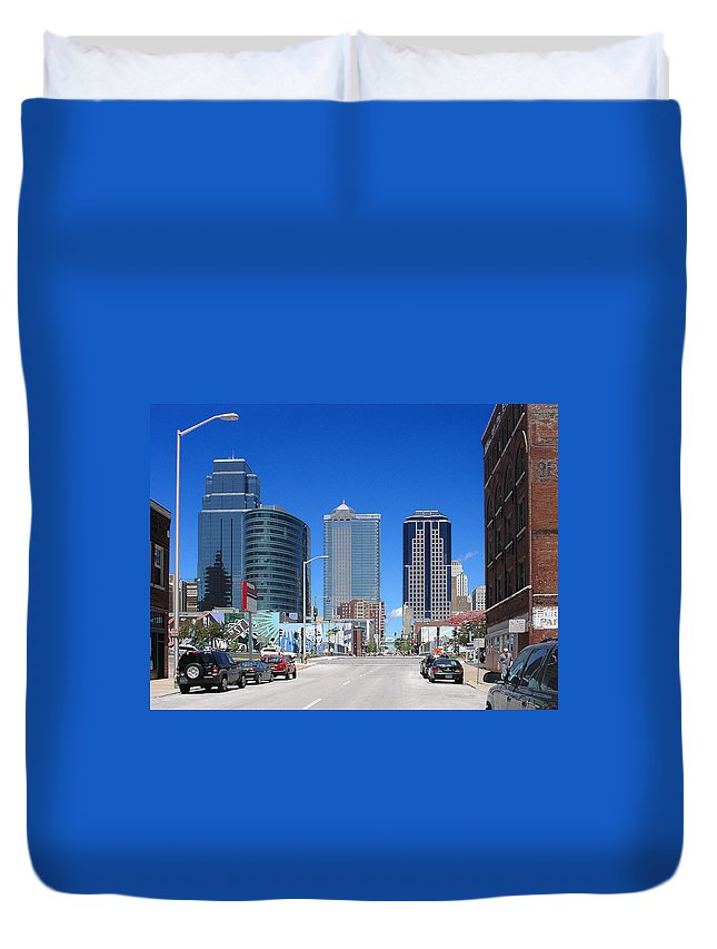City Duvet Cover featuring the photograph Downtown Kansas City by Steve Karol
