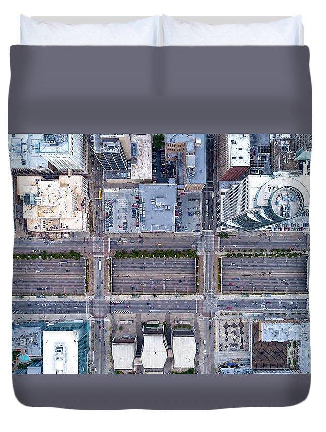 Cincinnati Duvet Cover featuring the photograph Downtown by Patrick Donovan
