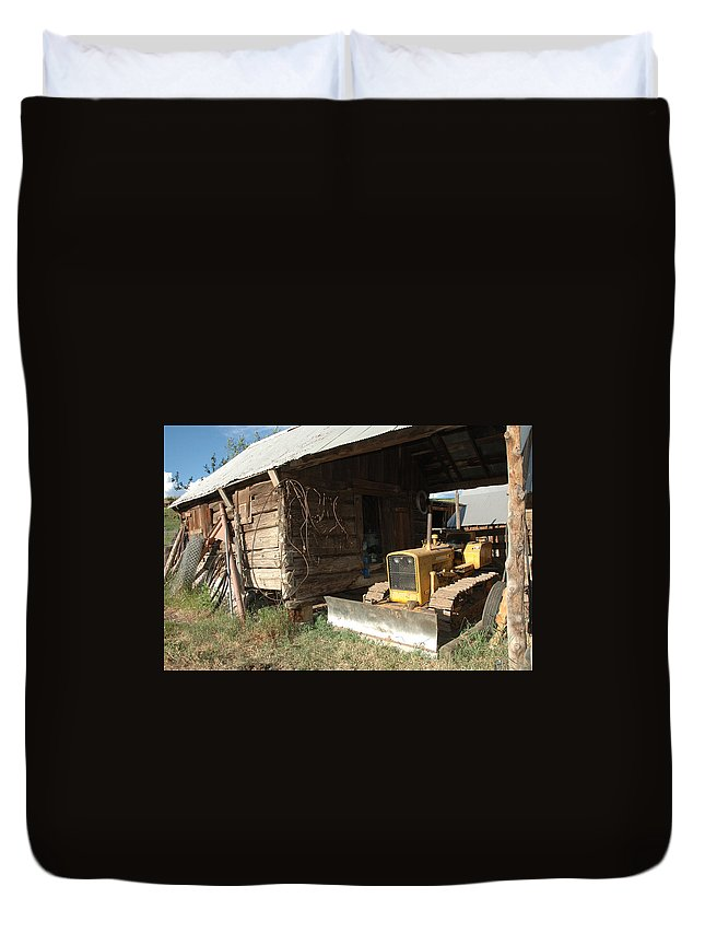 Bulldozer Duvet Cover featuring the photograph Dozin Off by Jerry McElroy
