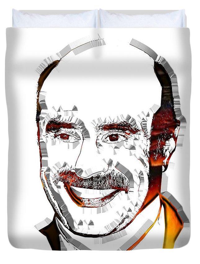 Pop Art Duvet Cover featuring the digital art Dr. Phil by Dalon Ryan