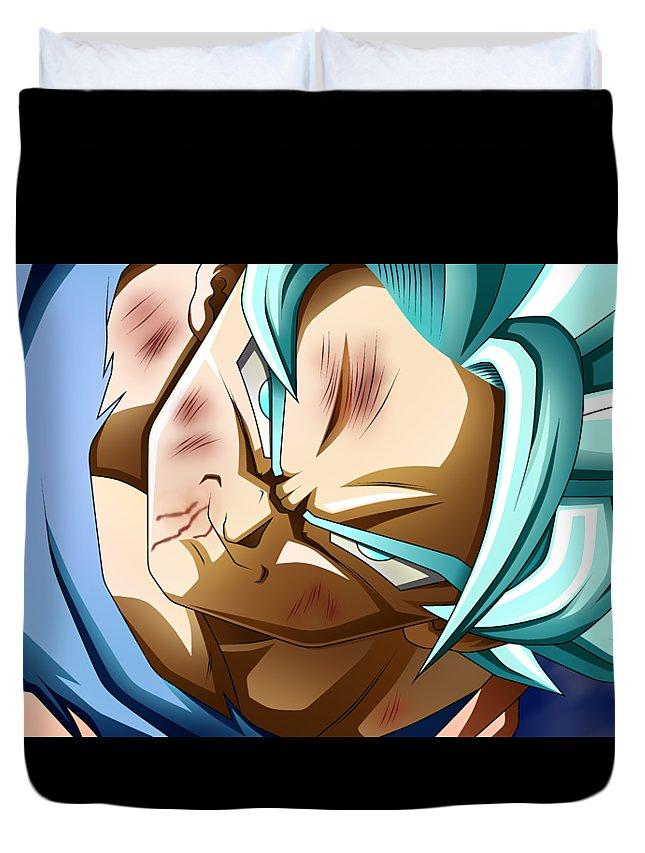 Goku New Form Duvet Cover featuring the digital art Dragon Ball Super - Goku by Babbal Kumar