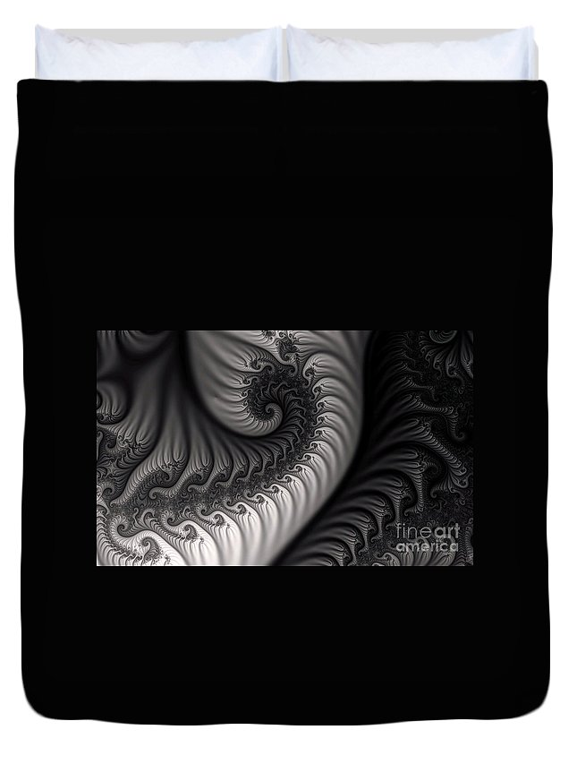 Clay Duvet Cover featuring the digital art Dragon Belly by Clayton Bruster