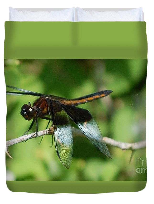 Digitall Photo Duvet Cover featuring the photograph Dragon Fly by David Lane
