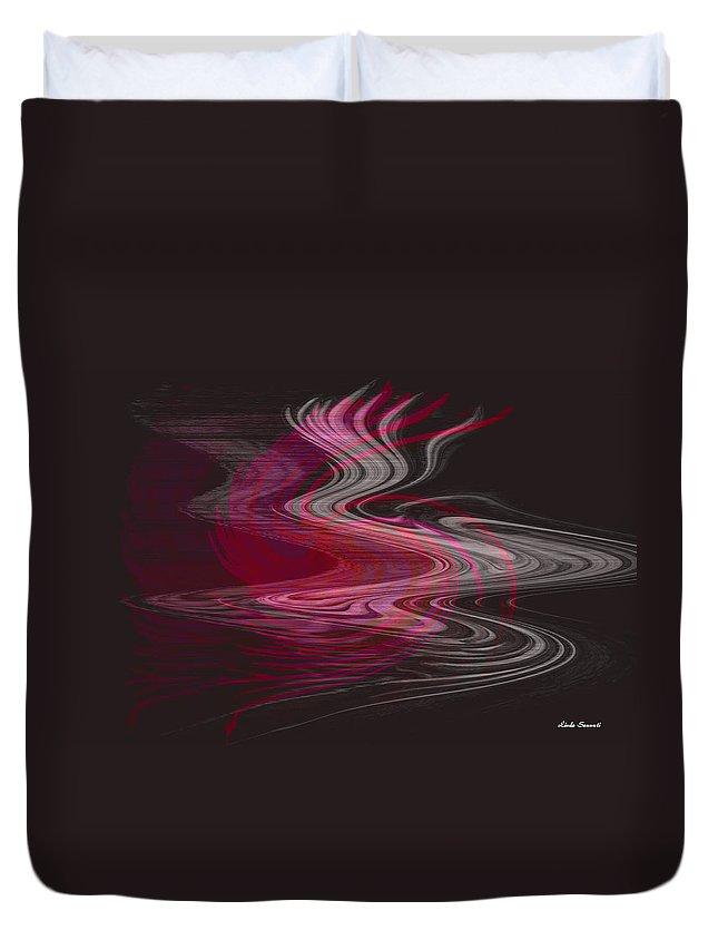 Abstract Duvet Cover featuring the digital art Dragon Queen by Linda Sannuti