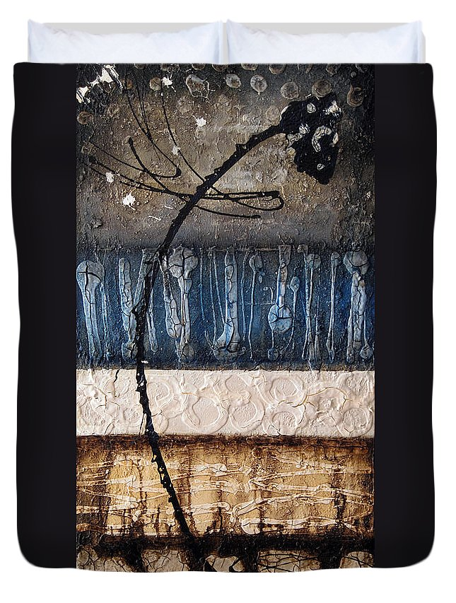 Abstract Duvet Cover featuring the painting Dragonfly 2 by Jill English
