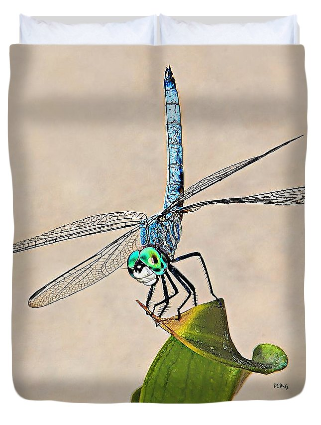 Dragonfly Duvet Cover featuring the photograph Dragonfly by Patrick Witz