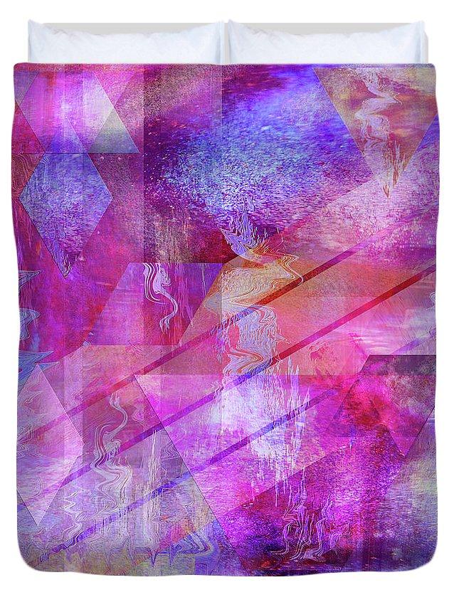 Dragon's Kiss Duvet Cover featuring the digital art Dragon's Kiss by John Beck