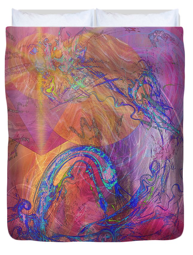 Dragon's Tale Duvet Cover featuring the digital art Dragon's Tale by John Beck