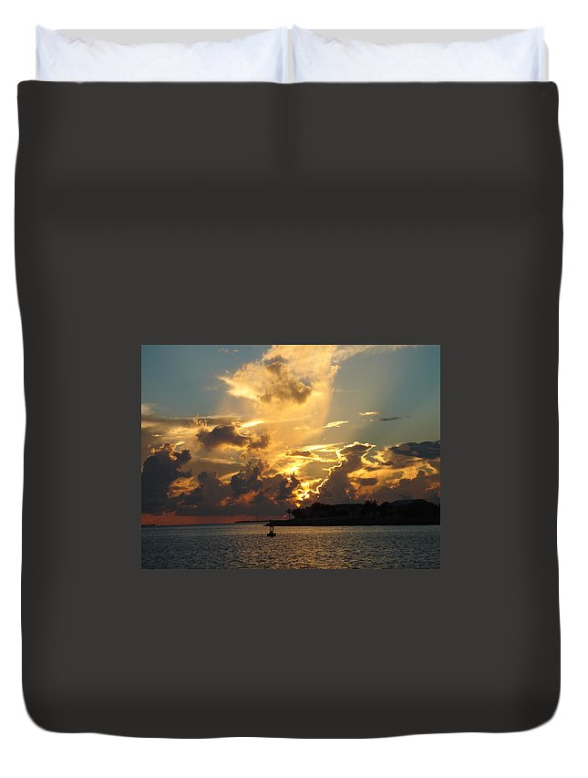 Photography Duvet Cover featuring the photograph Dramatic Clouds by Susanne Van Hulst