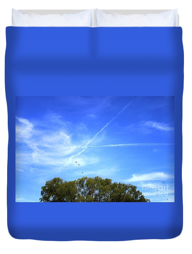 Landscape Duvet Cover featuring the photograph Dramatic Sky by Todd Blanchard