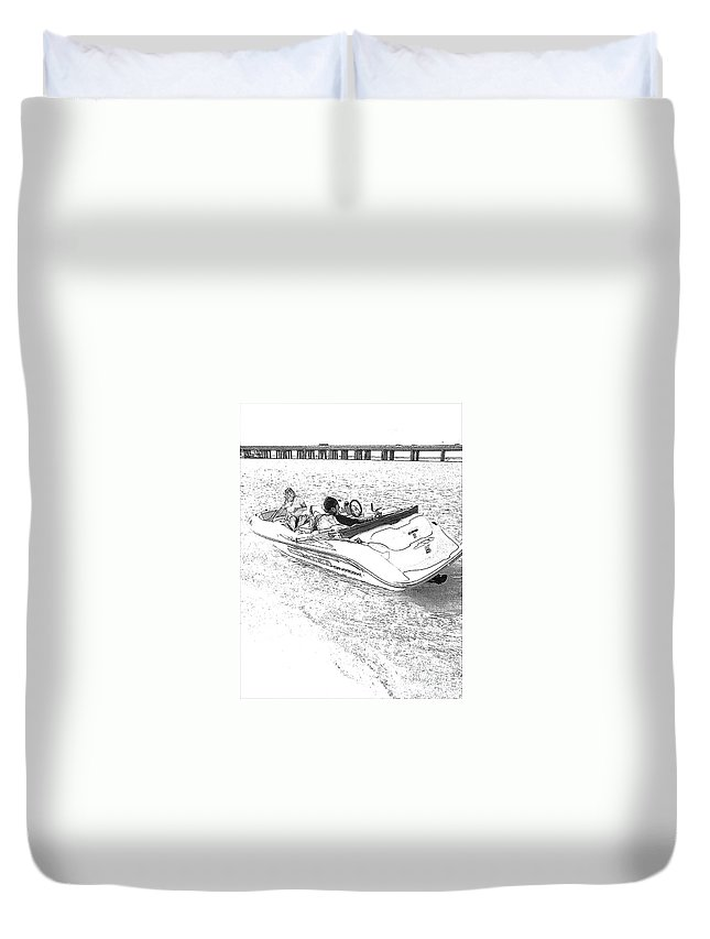 Boat Duvet Cover featuring the photograph Drawing The Boat by Michelle Powell