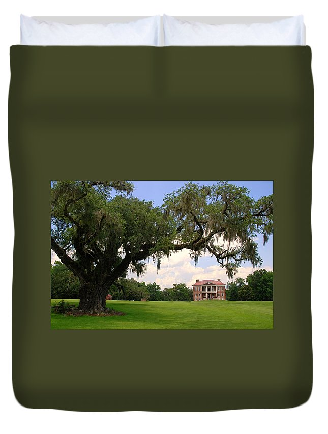 Photography Duvet Cover featuring the photograph Drayton Hall Plantation Charleston by Susanne Van Hulst
