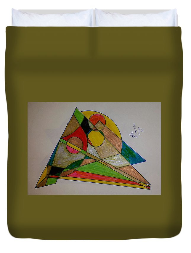 Geometric Art Duvet Cover featuring the glass art Dream 1 by S S-ray