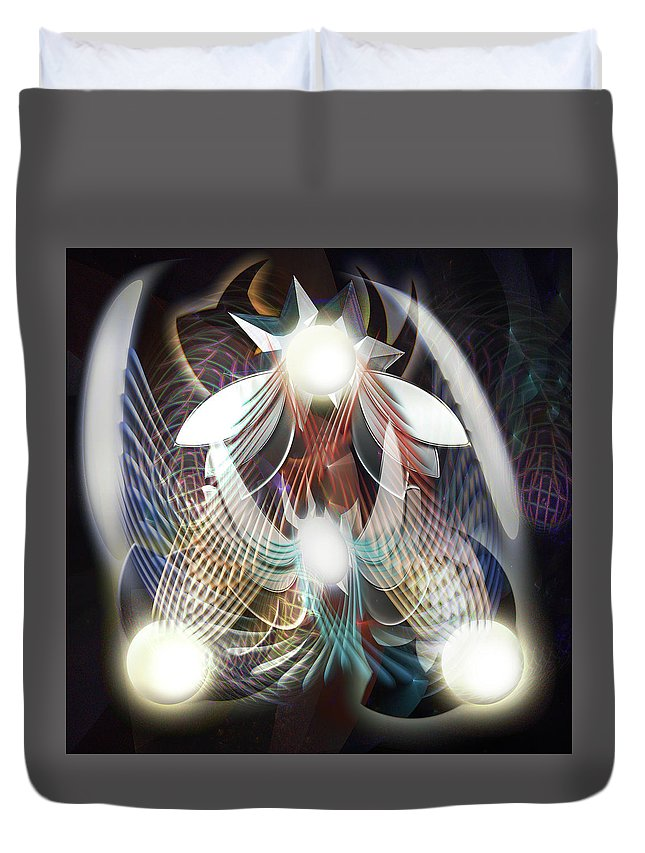 Digital Duvet Cover featuring the digital art Dream Catching by Andy Young