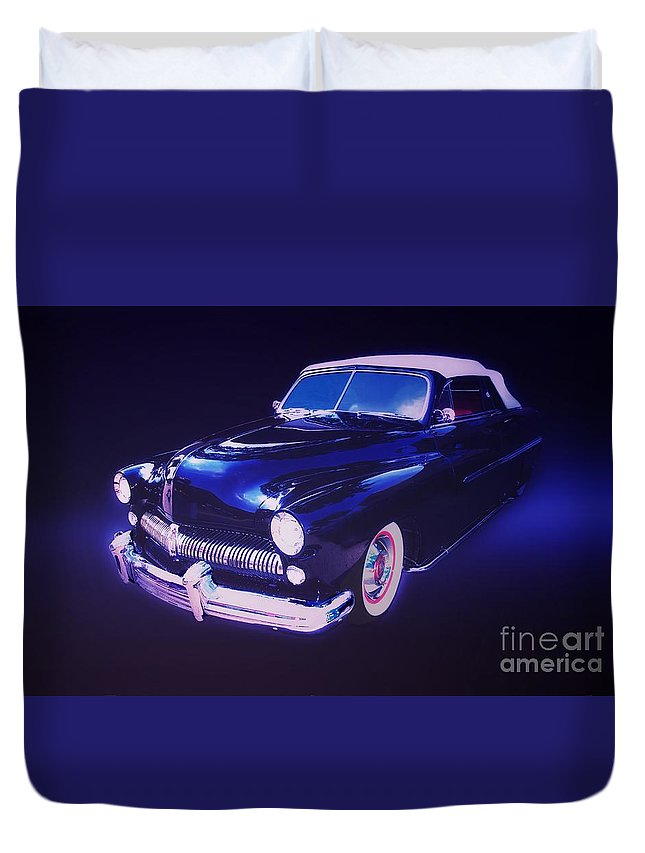 Automotive Duvet Cover featuring the photograph Dream Cruise Convertible by Thomas Burtney