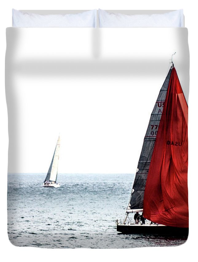 Landscapes Duvet Cover featuring the photograph Dream Of Red by Eric Christopher Jackson
