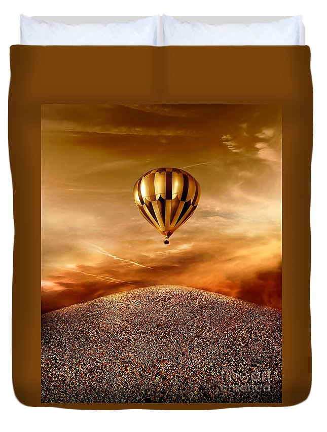 Golden Duvet Cover featuring the photograph Dream by Jacky Gerritsen