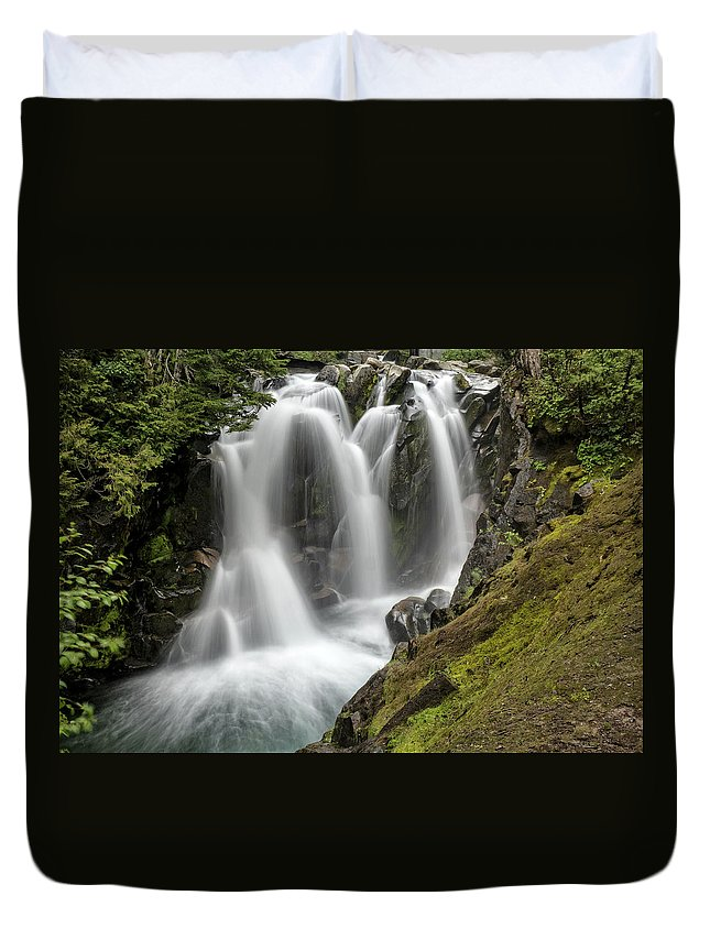 Paradise River Duvet Cover featuring the photograph Dream Stream by Gary Karlsen
