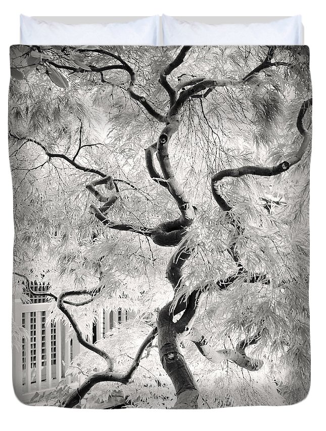 Bw Duvet Cover featuring the photograph Dream Tree by Dorit Fuhg
