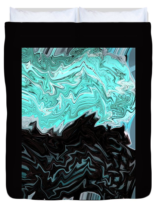 Abstract Duvet Cover featuring the digital art Dream Waves by Lenore Senior
