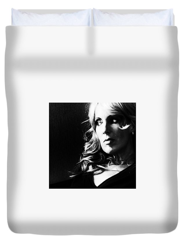 Black And White Duvet Cover featuring the photograph Dreamer by Kelly Hayner
