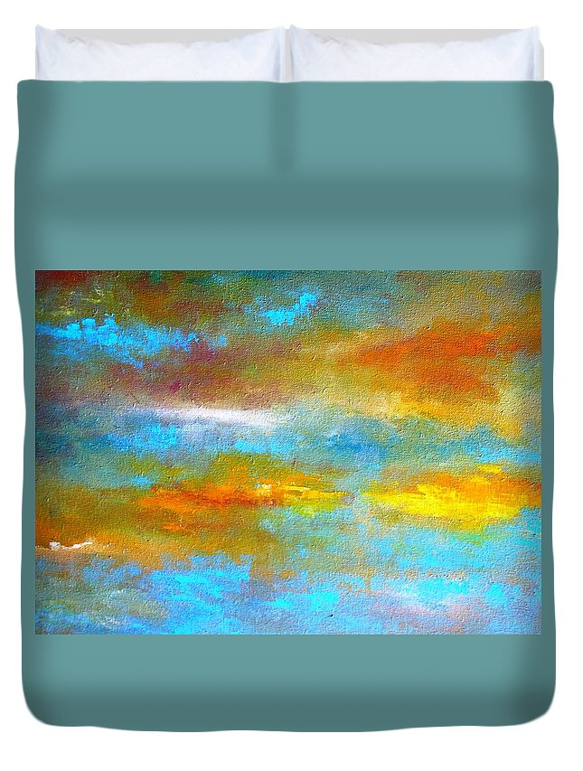 Truck Duvet Cover featuring the painting Dreaming by Lord Frederick Lyle Morris - Disabled Veteran