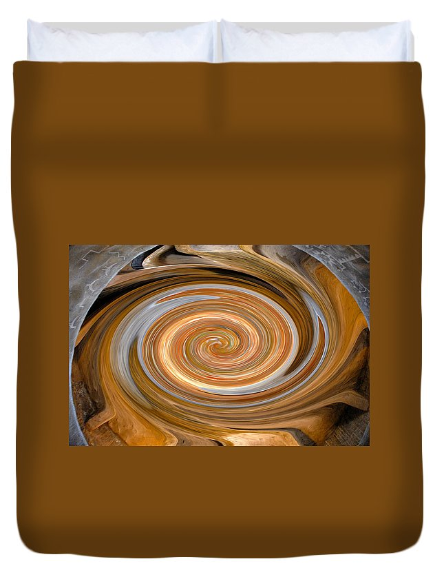 Hopi Duvet Cover featuring the painting Dreaming In Hopi Land by David Lee Thompson
