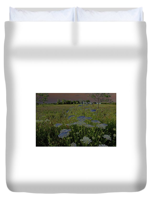 Photograph Duvet Cover featuring the photograph Dreaming Of Queen Annes Lace by Suzanne Gaff