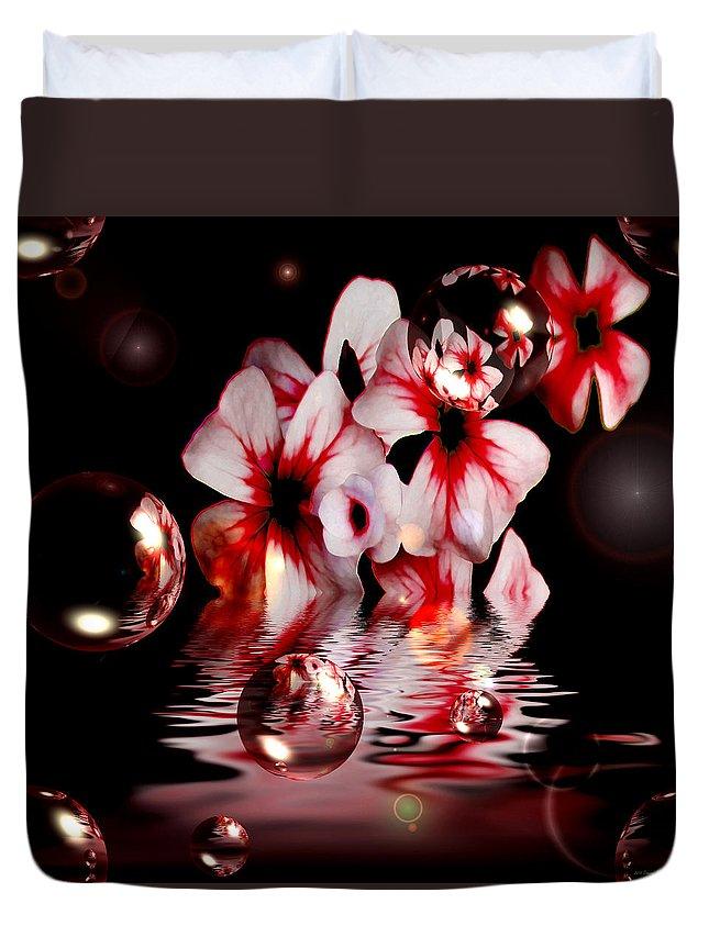 Floral Duvet Cover featuring the digital art Dreams 5 - Floral by P Donovan