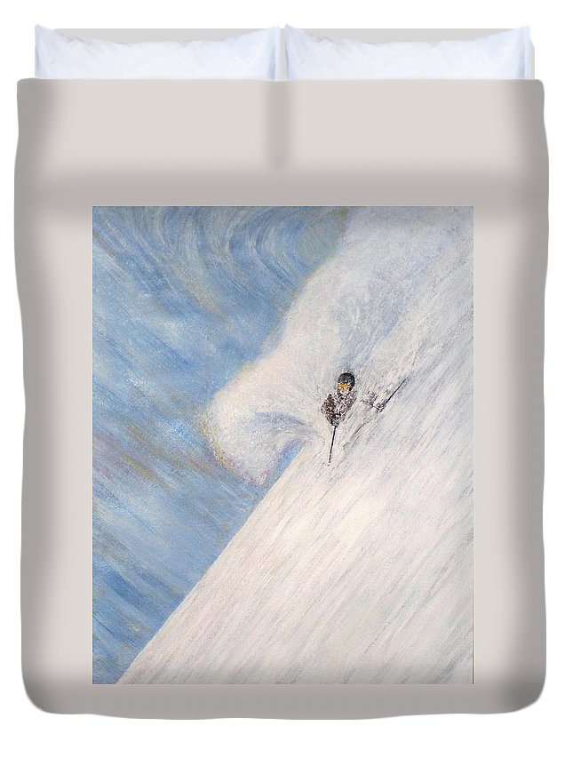 Landscape Duvet Cover featuring the painting Dreamsareal by Michael Cuozzo