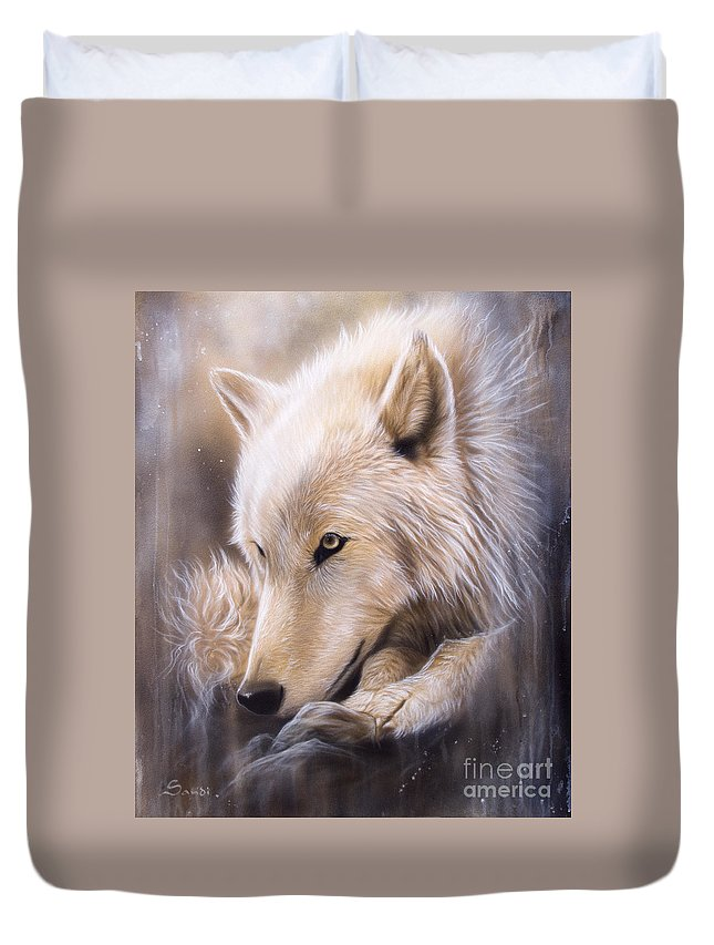 Arctic Wolf Paintings Duvet Covers