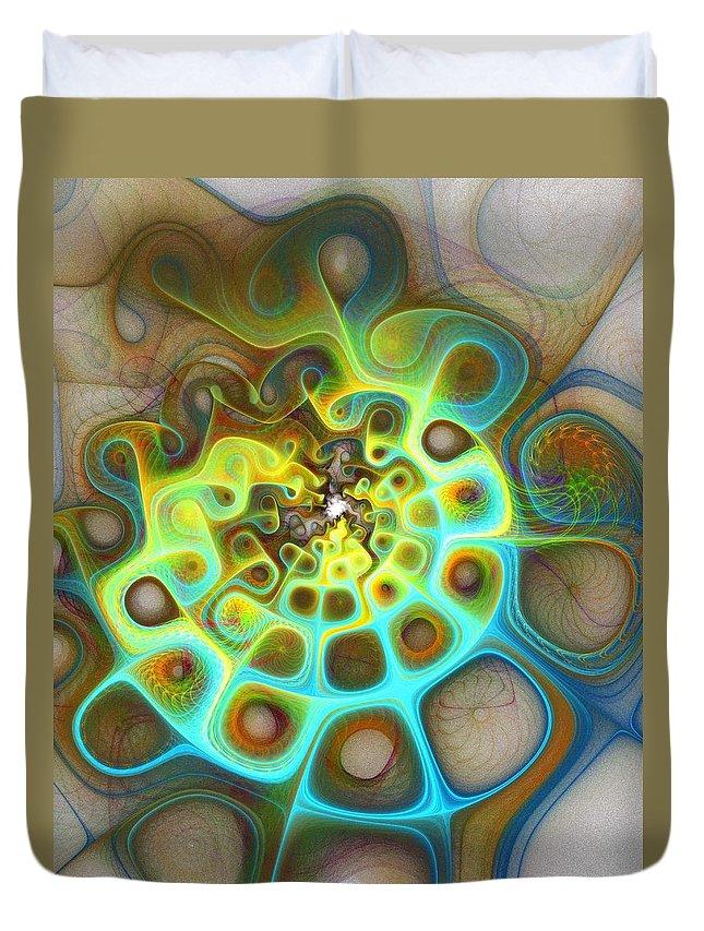 Digital Art Duvet Cover featuring the digital art Dreamscapes by Amanda Moore