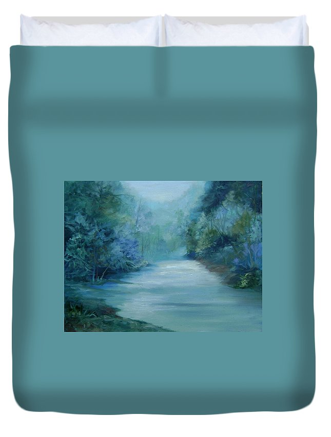 Burton River Georgia Duvet Cover featuring the painting Dreamsome by Ginger Concepcion