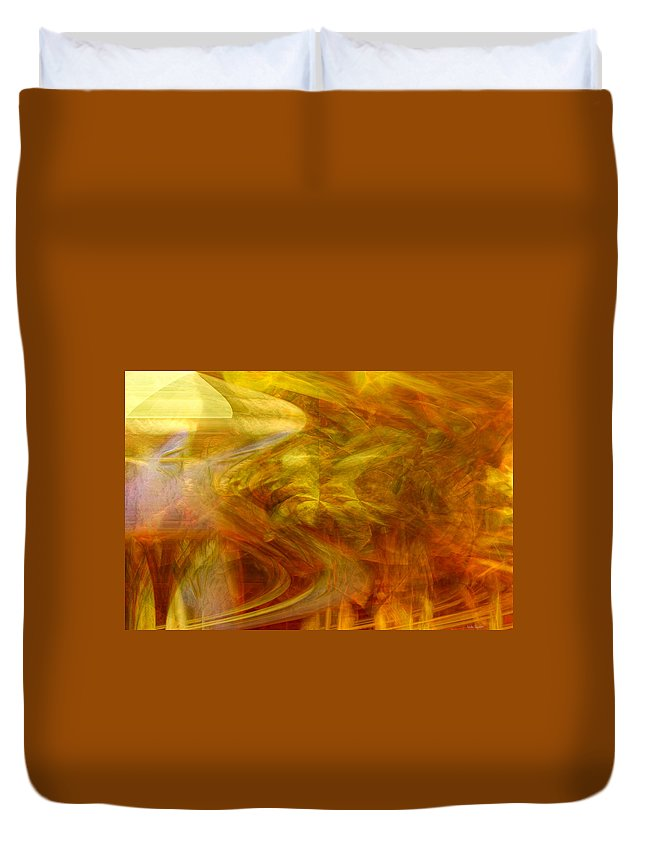 Abstract Art Duvet Cover featuring the digital art Dreamstate by Linda Sannuti