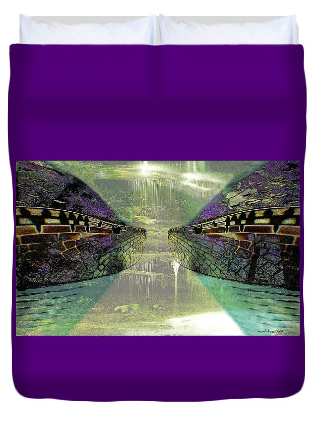 Gondwana Duvet Cover featuring the painting Dreamtime Gondwanaland by Sarah King