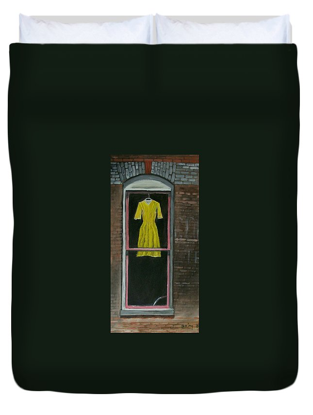 Original Duvet Cover featuring the painting Dress Up by Stephen King