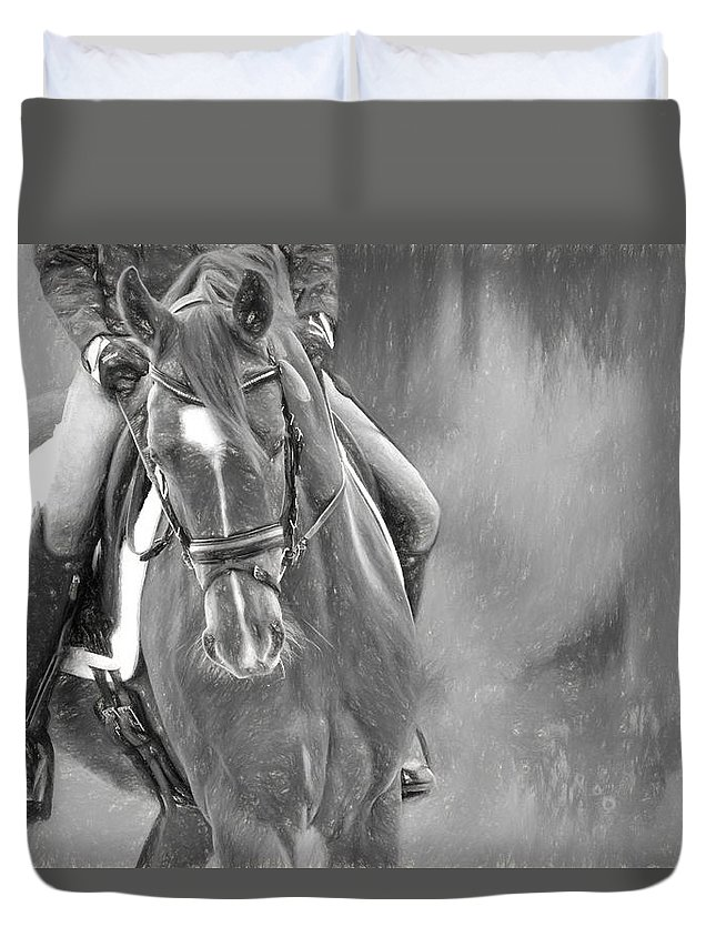 Alicegipsonphotographs Duvet Cover featuring the photograph Dressage Hands by Alice Gipson