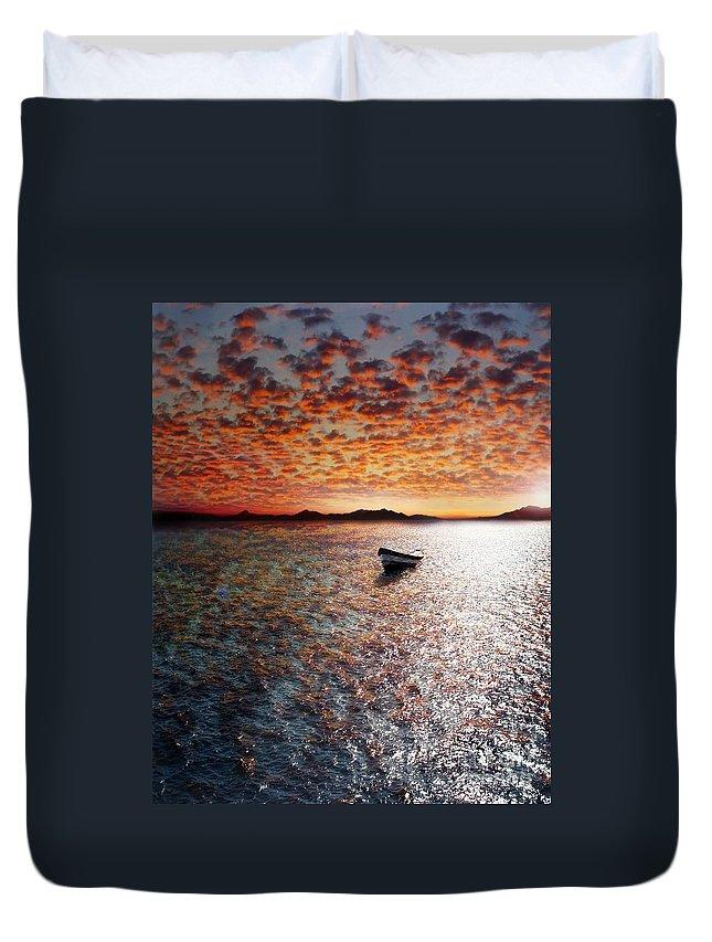 Ocean Duvet Cover featuring the photograph Drift Away by Jacky Gerritsen