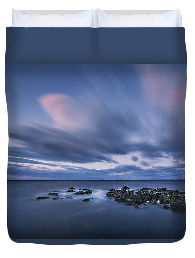 Frank Olsen Duvet Cover featuring the photograph Drifting Clouds I by Frank Olsen