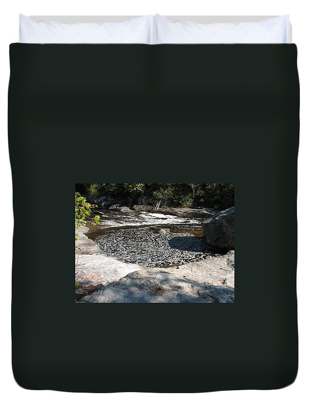 River Duvet Cover featuring the photograph Drifting Dreams by Kelly Mezzapelle