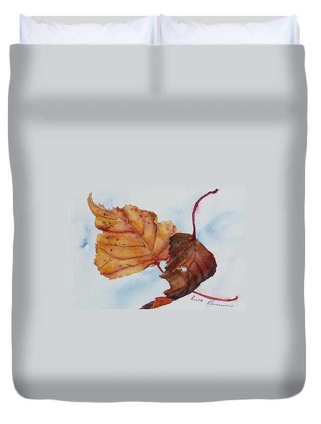 Fall Duvet Cover featuring the painting Drifting by Ruth Kamenev