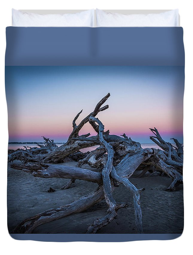 Nature Duvet Cover featuring the photograph Driftwood Beach 1 by Brandon Falls
