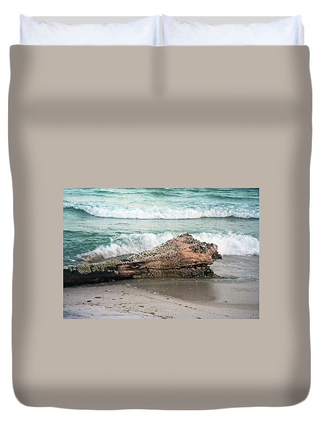 Driftwood Duvet Cover featuring the photograph Driftwood by David Campbell