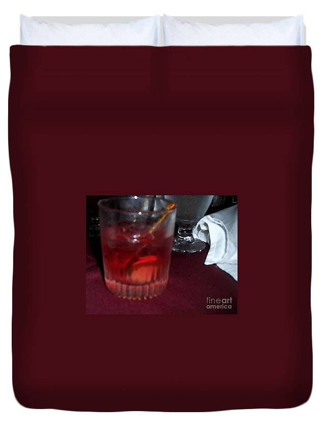 Drinks Duvet Cover featuring the photograph Drink Up by Debbi Granruth