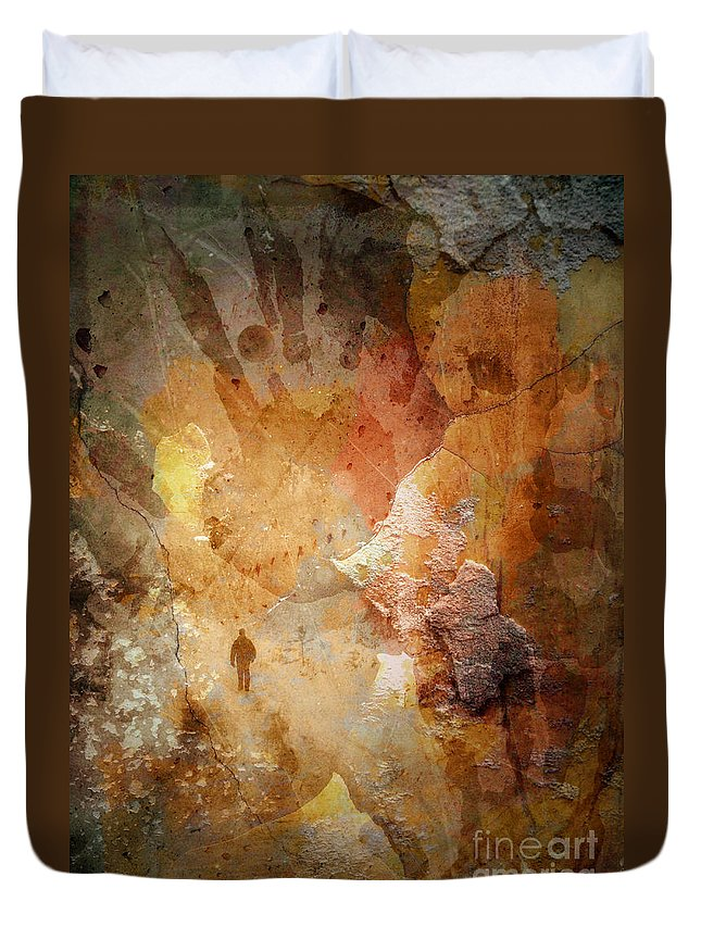 Depression Duvet Cover featuring the photograph Drinking Shadows From A Brown Paper Bag And Stumbling Over The Curb Into Night by Tara Turner