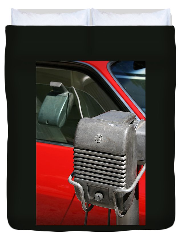 Photograph Duvet Cover featuring the photograph Drivein by Gwyn Newcombe