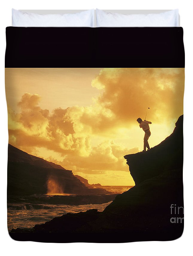 Amazing Duvet Cover featuring the photograph Driving Off A Cliff by Dana Edmunds - Printscapes