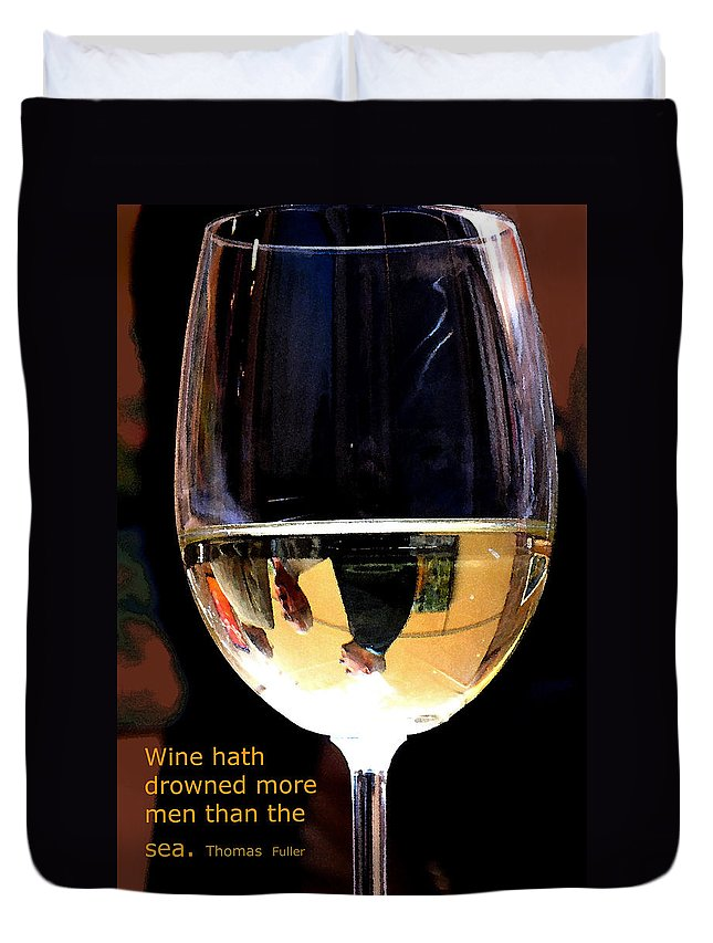 Wine Duvet Cover featuring the photograph Drowning by Ian MacDonald