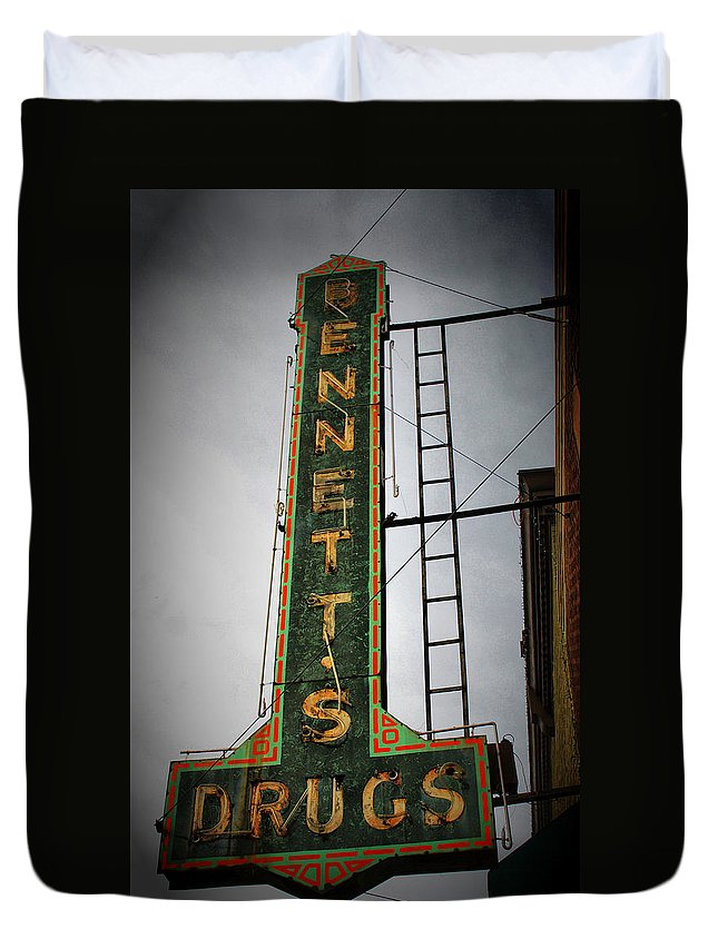 Scenic Tours Duvet Cover featuring the photograph Drugs by Skip Willits