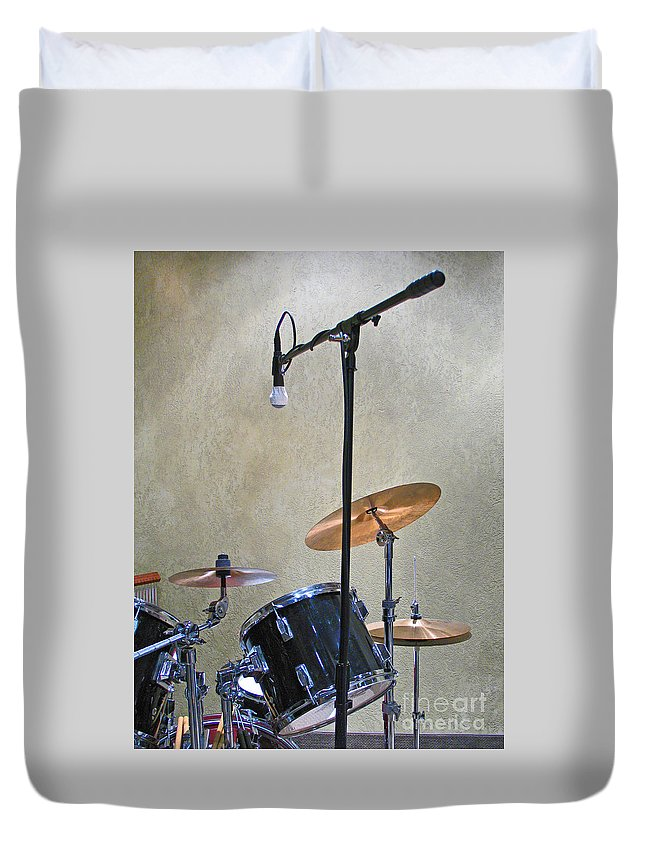 Music Duvet Cover featuring the photograph Drummers Joy by Ann Horn